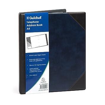 Goldline GH06029 - Agenda telefónica (A4), color azul ...
