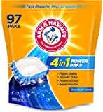 Arm & hammer 4-in-1 Laundry Detergent Power Paks, 97 Count (Packaging may vary)