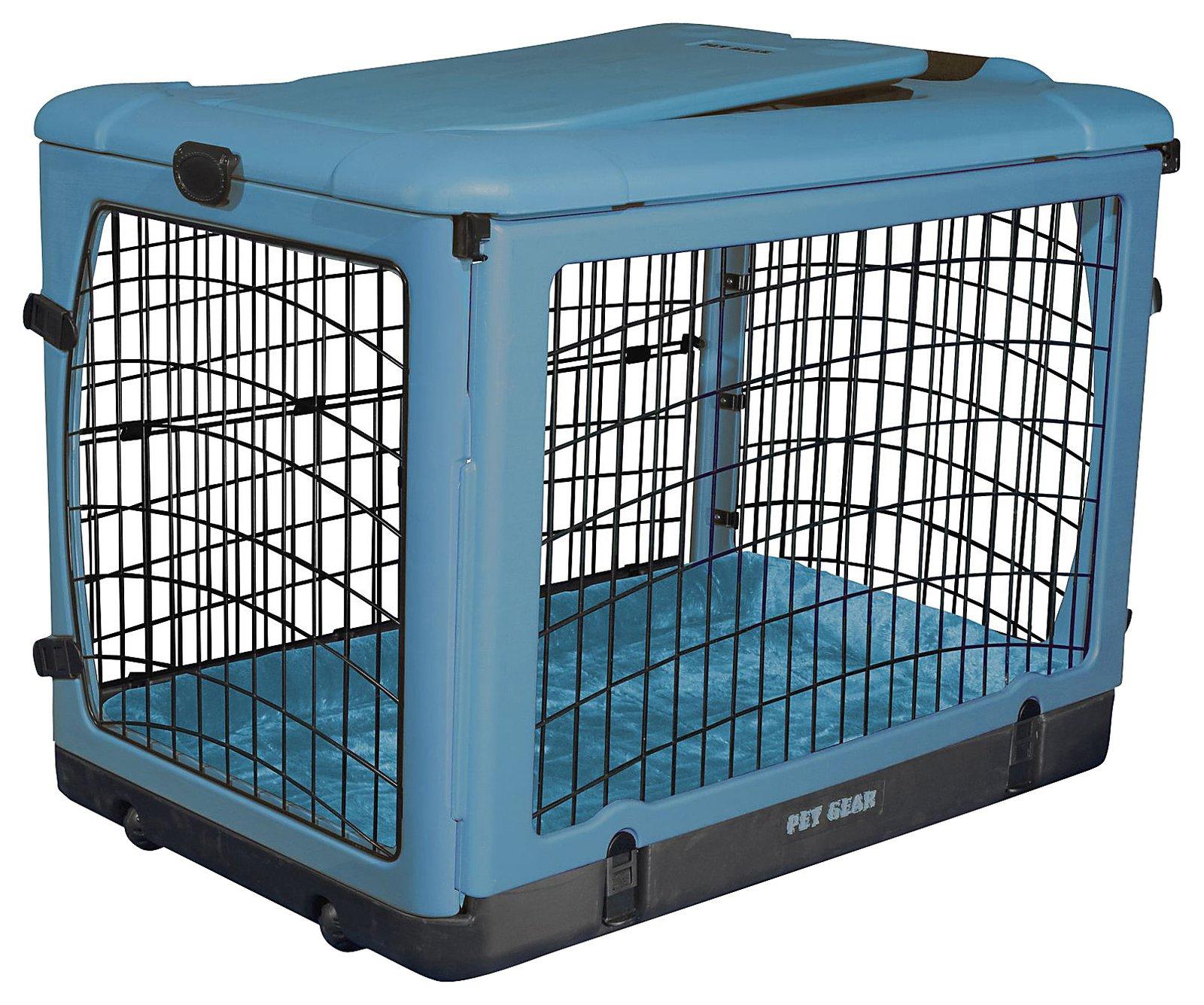 Amazon.com: JAULA para MASCOTAS de PET GEAR THE OTHER DOOR con BASE AFELPADA y BOLSA para TRANSPORTAR modelo Ocean Blue 30 Lbs.: Health & Personal Care