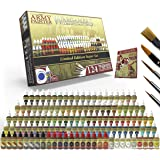 The Army Painter Wargamers Complete Paint Set - Miniature Painting Kit with 124 Model Paints, 5 Miniatures Paint Brushes…