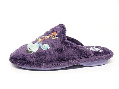 Biorelax Zapatilla Mujer Para Andar Por casa suapel Color Morado - 4613 - Vespa (35