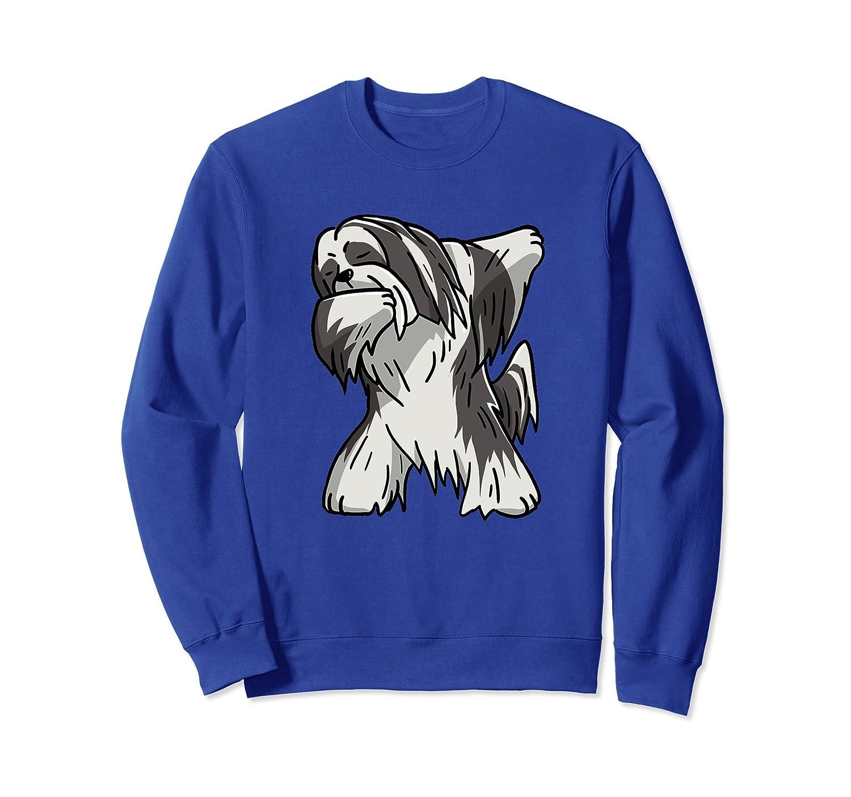 Funny Dabbing Lhasa Apso Birthday Gift Dog Sweatshirt-AZP