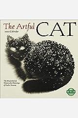 The Artful Cat 2021 Wall Calendar: Brush & Ink Watercolor Paintings Calendar