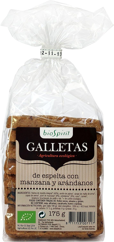 Biospirit Galletas de Espelta con Manzana y Arándanos de Cultivo ...