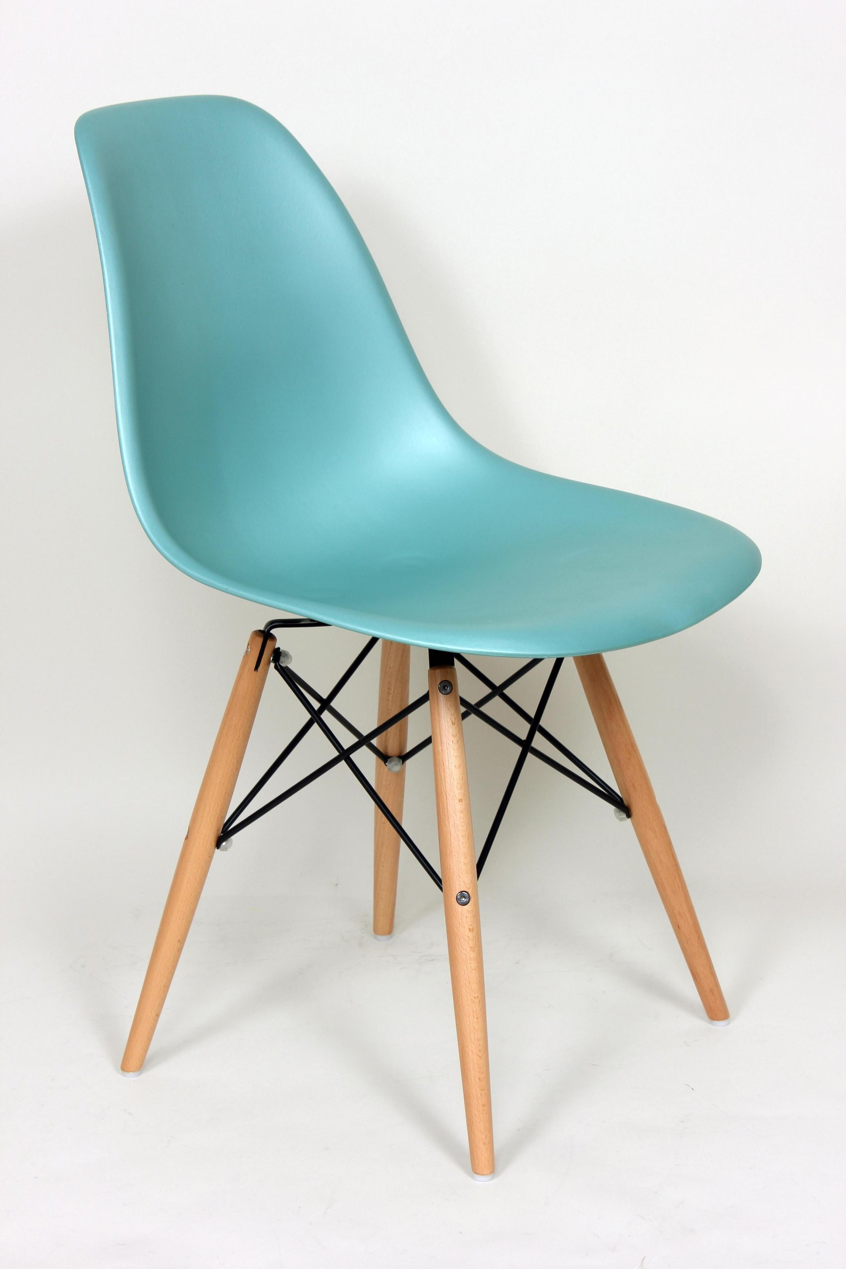 "Stilnovo Mid-Century Eiffel Dining Chair, Blue - 32"" x 21"" x 18.5"" This stylish chair has many uses in the home, office, cafe, reception area, or training room. Wooden Dowel Legs - kitchen-dining-room-furniture, kitchen-dining-room, kitchen-dining-room-chairs - 81QFmatAh6L -"
