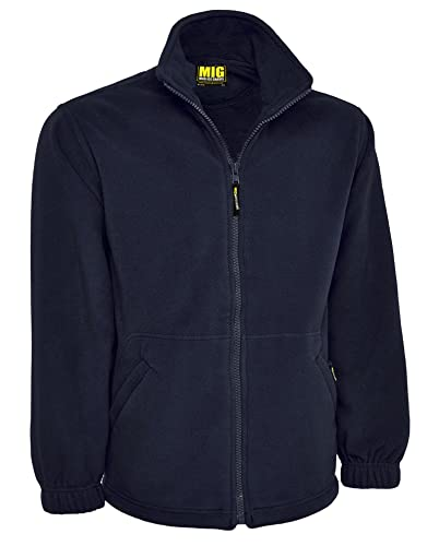 Mens Classic Fleece Jacket Coat Sizes XS to 4XL - WORK LEISURE SPORTS CASUAL