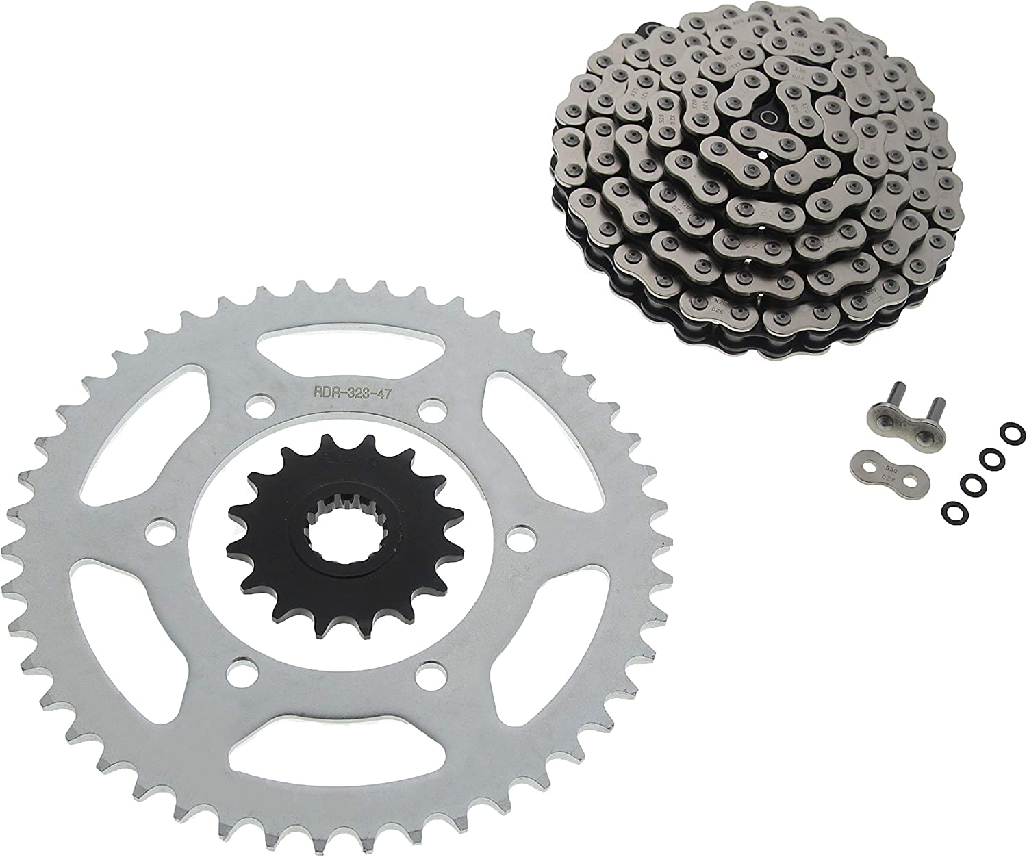 1998 1999 2000 2001 2002 2003 fits Yamaha YZF-R1 Front and Rear Sprocket 16//43