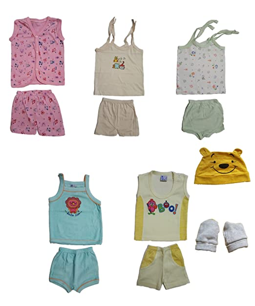93dd1118c455 Kaass Collection New Born Baby Boy Combo Sets of Jabla Shirt with ...