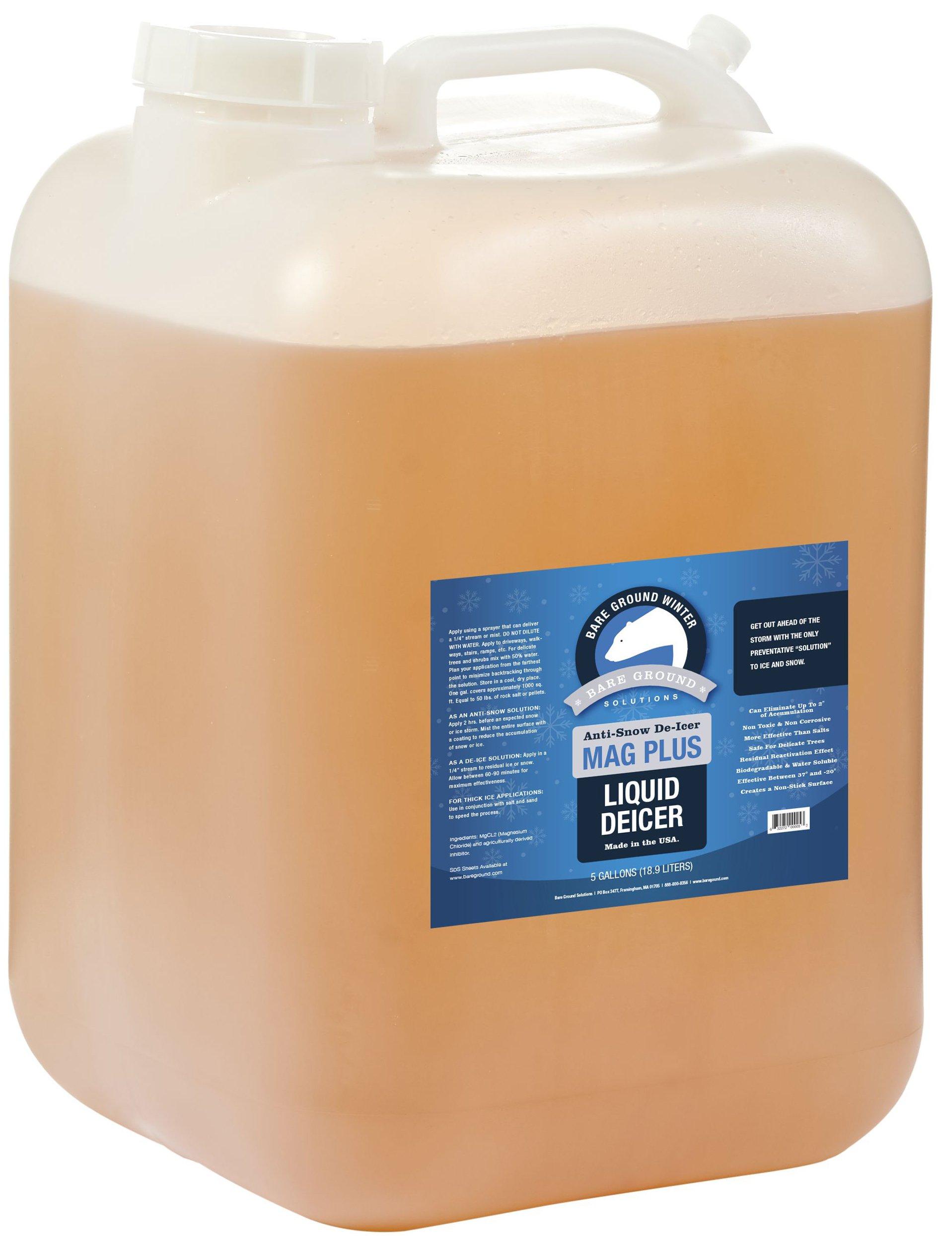 Bare Ground BG-5P All Natural Anti-Snow Liquid De-Icer, 640 oz (5 Gallons)