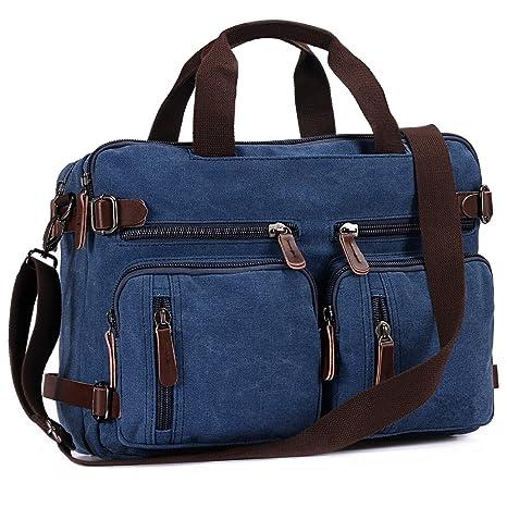BAOSHA HB-22 Vintage lienzo bolso de mano hombres del maletín mochila Convertible bolsa de