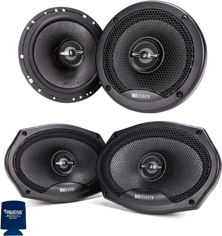 MB Quart Premium Bundle 1-Pair of PK1-116 6.5 Coaxial Speakers with 1-Pair of PK1-169 6x9 Coaxial Speakers