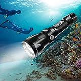 Bluefire 1200 Lumen CREE XM-L2 Linterna de Buceo, Profesional Linterna Submarina Impermeable de Seguridad para…