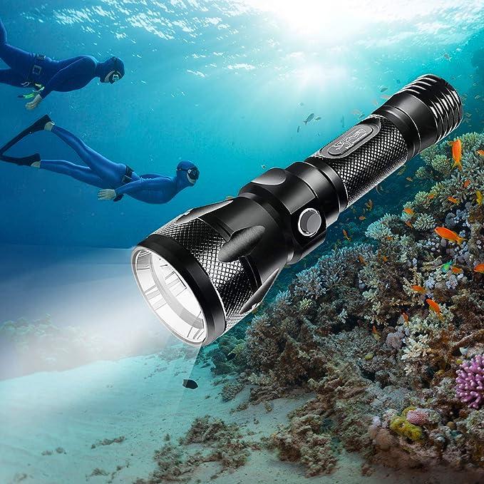 424237692e BlueFire Diving Torch, 1200 Lumen XM-L2 LED Bright Professional Scuba  Flashlight Safety Lights with Hand Strap & Lanyard (Black): Amazon.co.uk:  Electronics