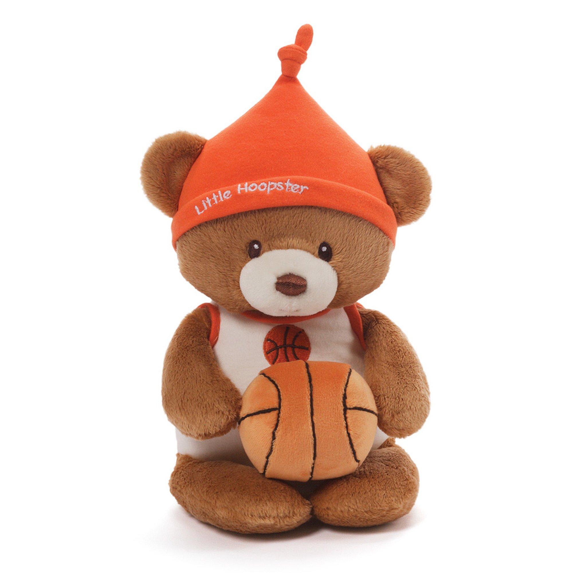Gund Baby Teddy Bear and Rattle, Little Hoopster Basketball