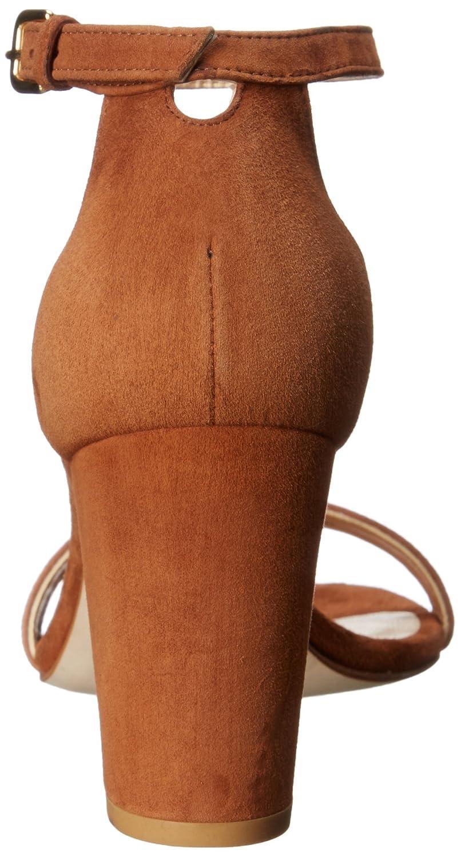Stuart Sandal Weitzman Women's Nearlynude Heeled Sandal Stuart B0059CHA0M 9.5 B(M) US|Saddle 87a3c1