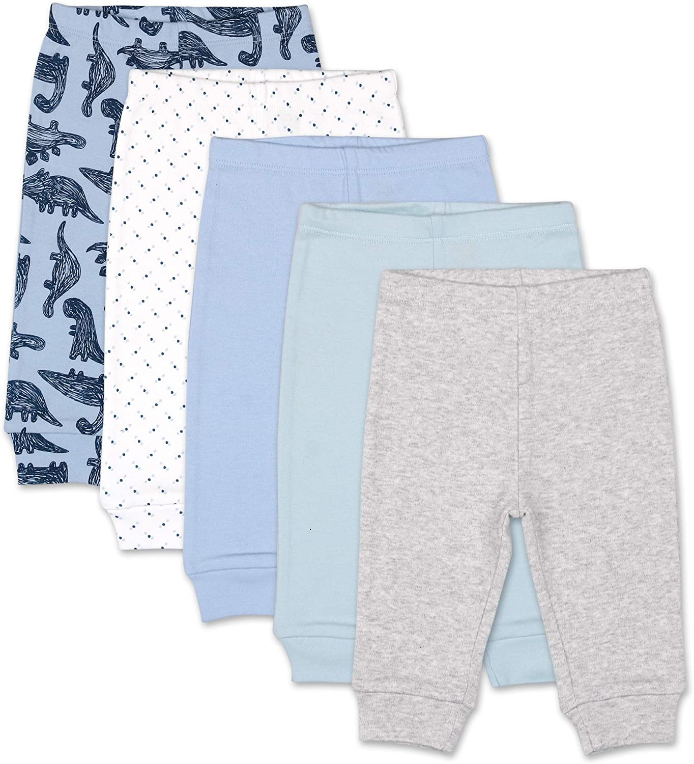 The Peanutshell 5 Pack Pants Set for Baby Boys | Sizes Newborn to 24 Months: Clothing