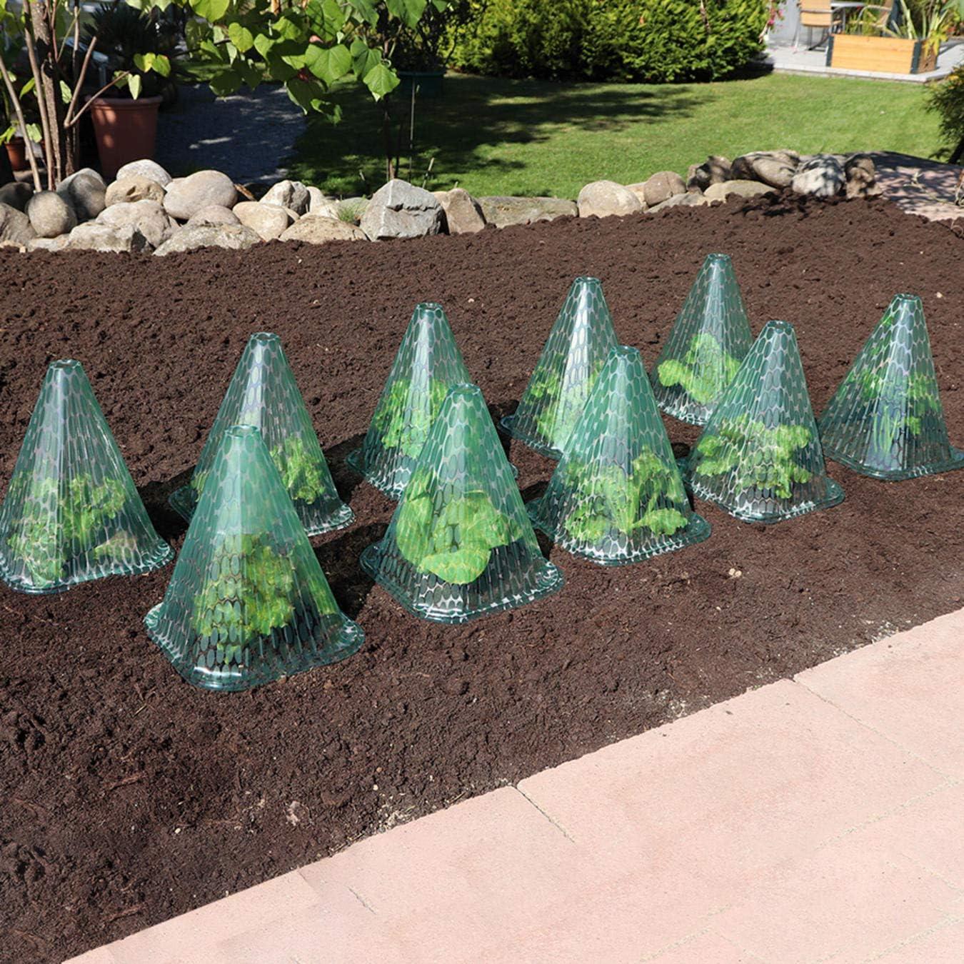 Sonnenhut 10 Stück Pflanzenhut Pflanzenschutz Haube Schutzhaube Hagelschutz