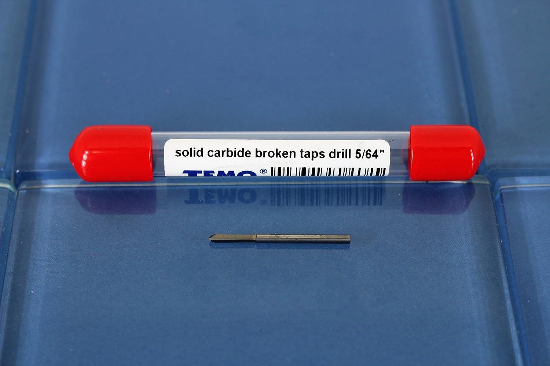 2mm Solid Carbide Broken Taps Drill Extractor TEMO 5//64 inch