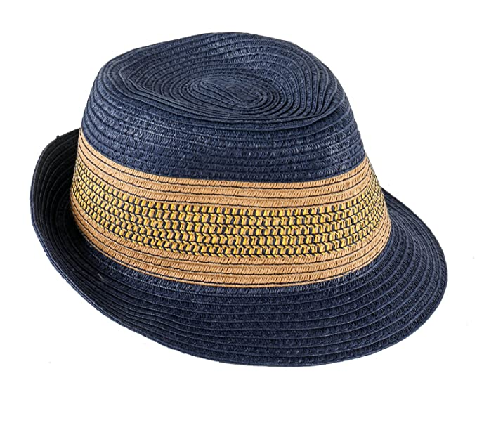22676bfc167 Amazon.com  Boy Straw Fedora Vintage Panama Hat (Age 4-6)  Clothing