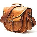 PURPLE RELIC: DSLR Leather Camera Bag ~ Travel Vintage Crossbody Shoulder Bag Removable Insert ~ Fits Standard Size DSLR Lens