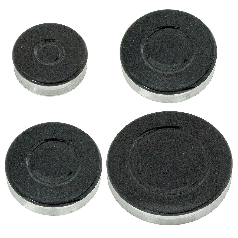 Spares2go grabadora de Gas diseño de corona de fuego gorra para Whirlpool para horno de cocina (tamaño pequeño, 2 medio y tamaño grande)