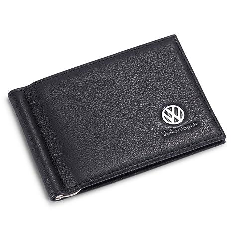 Amazon Com Tuoco Volkswagen Bifold Money Clip Wallet With 6 Credit