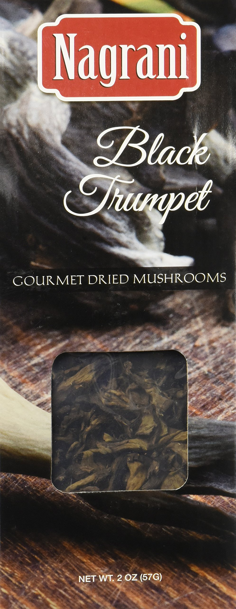 Nagrani Dried Black Trumpet Mushrooms, 2 Ounce by Nagrani