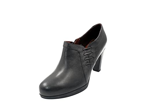 En Pitillos 604 Mujer Piel Color Abotinado Zapato Negro 30839 3cj4R5ALq