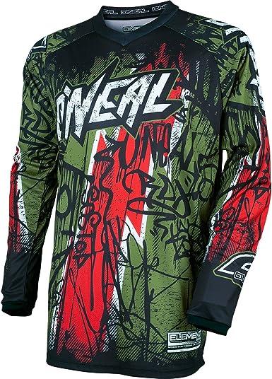 ONeal 2017 Motocross / MTB Camisa Para Hombres - Element Vandalismo urbano sin etiquetar - verde