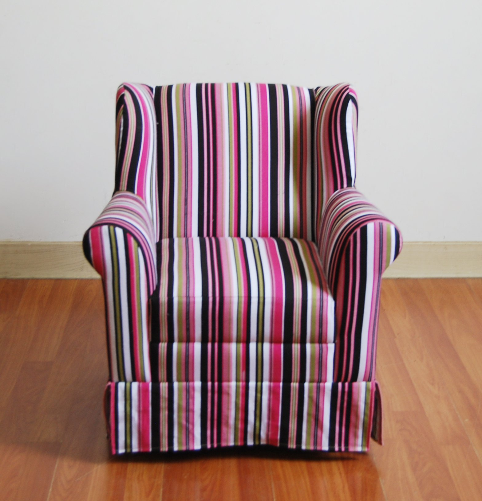 4D Concepts Girls Striped Wingback Chair