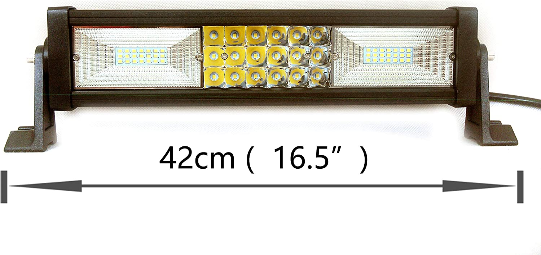 LED Light Bar 14 Inch 180w Triple Rows LED Work Light Spot Flood Combo Led Driving Lights Boat Lighting Fog Lights Jeep Offroad,Suv 4wd Truck Heavy Duty Vehicle Atv Lights 2 Years Warranty