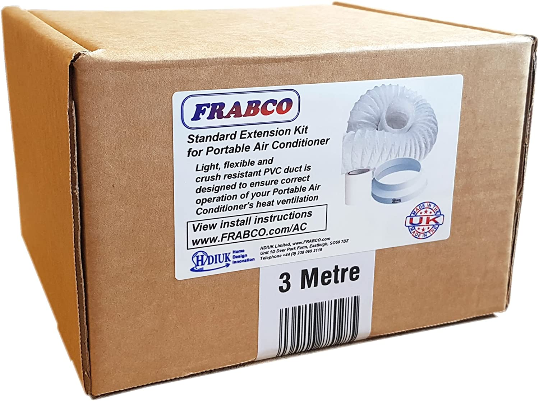 HDIUK 3 Mètre Aircon Portable Air Conditioner 3 M Tuyau d/'Kit rallonge tuyau de