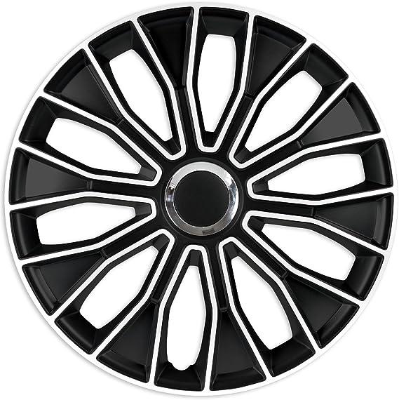 Radzierblenden Radkappen Radabdeckung 16 Zoll 95 Schwarz Weiß Abs Auto