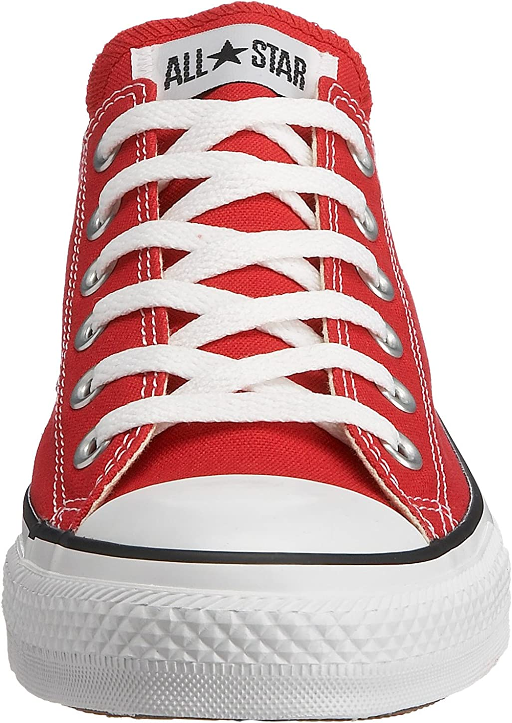 Converse Womens Ctas Ox Fabric Low Top Lace Up Fashion Sneakers Rosso Red