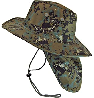 105c05a7db0 Boonie Bush Safari Outdoor Fishing Hiking Hunting Boating Snap Brim Hat Sun  Cap with Neck Flap