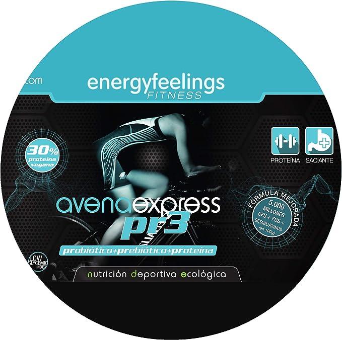 Energy Feelings | Avena Express PR3 Ecológica en Polvo 1 Kg | Probiótico | Prebiótico | 30% de proteína | Vegano | Sin Gluten | Sin lactosa | Azúcar ...