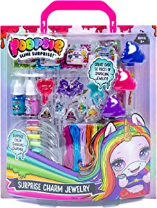 Poopsie Surprise Charm Jewelry by Horizon Group USA, Create Over 10 Pieces of Shimmering, Color Changing, Charms Using Glitter, Confetti & More. Multicolored