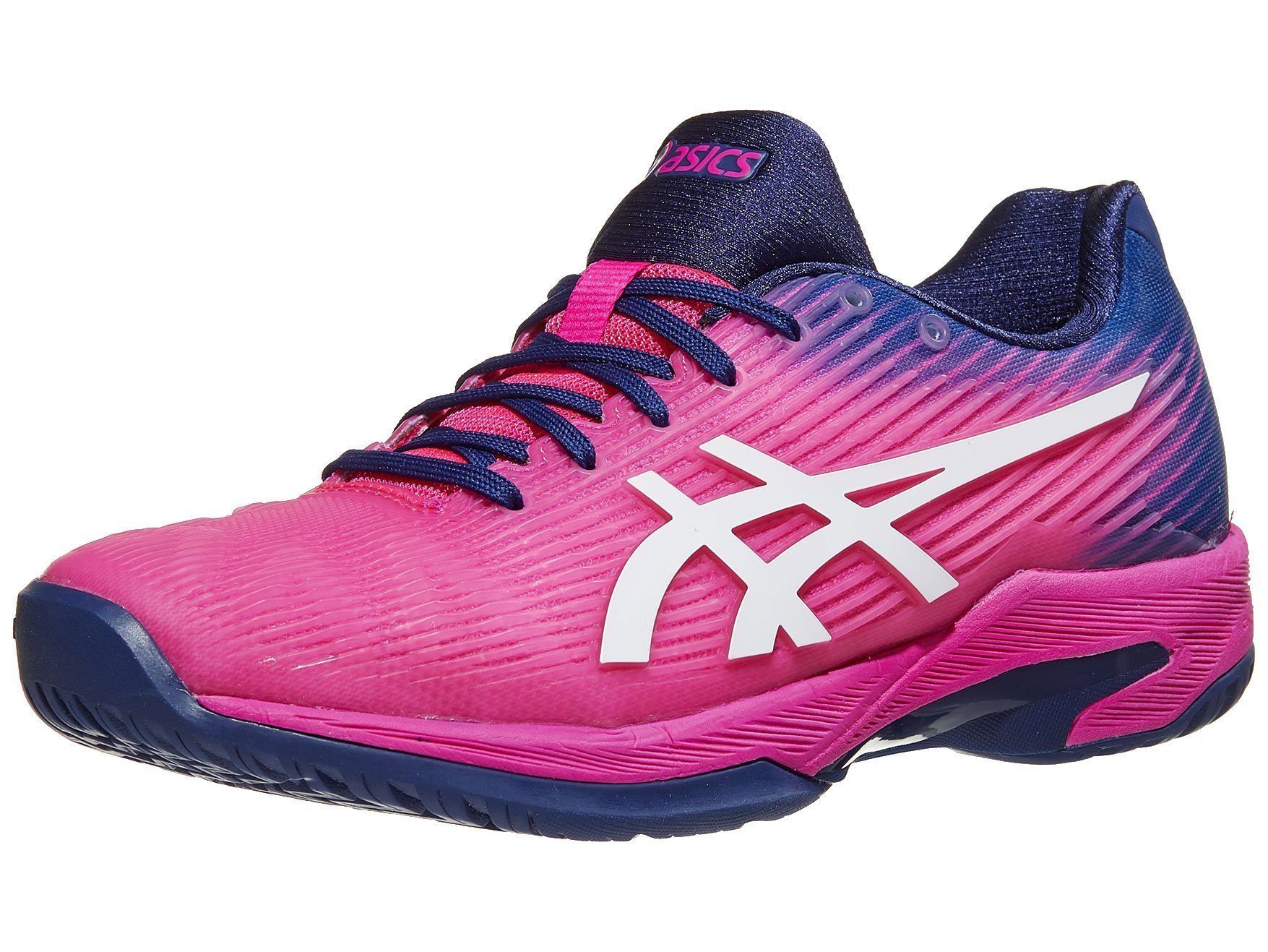 ASICS Womens Solution Speed FF Tennis Shoe, Pink Glo/White, Size 5.5