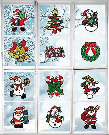 extraíble calcomanías Copo De Nieve ventana Stickers Navidad festiva Decoración
