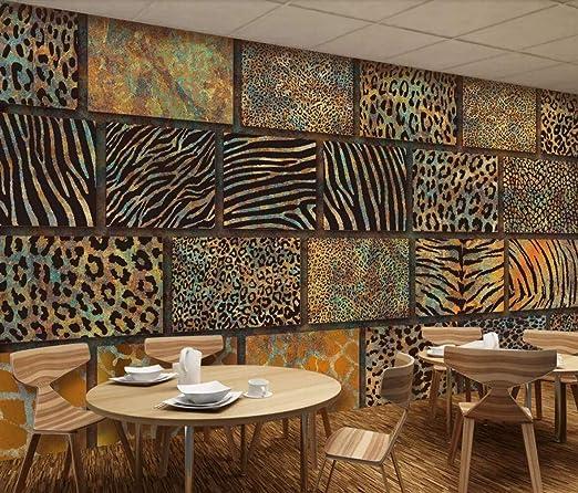 Papel Pintado Pared 3D Patr/ón De Tigre Leopardo De Gama Alta Moderno Fotomurales Mural Papel Pintado Sala De Estar Dormitorio Tv Fondo Decoraci/ón De Pared 200cm/×140cm