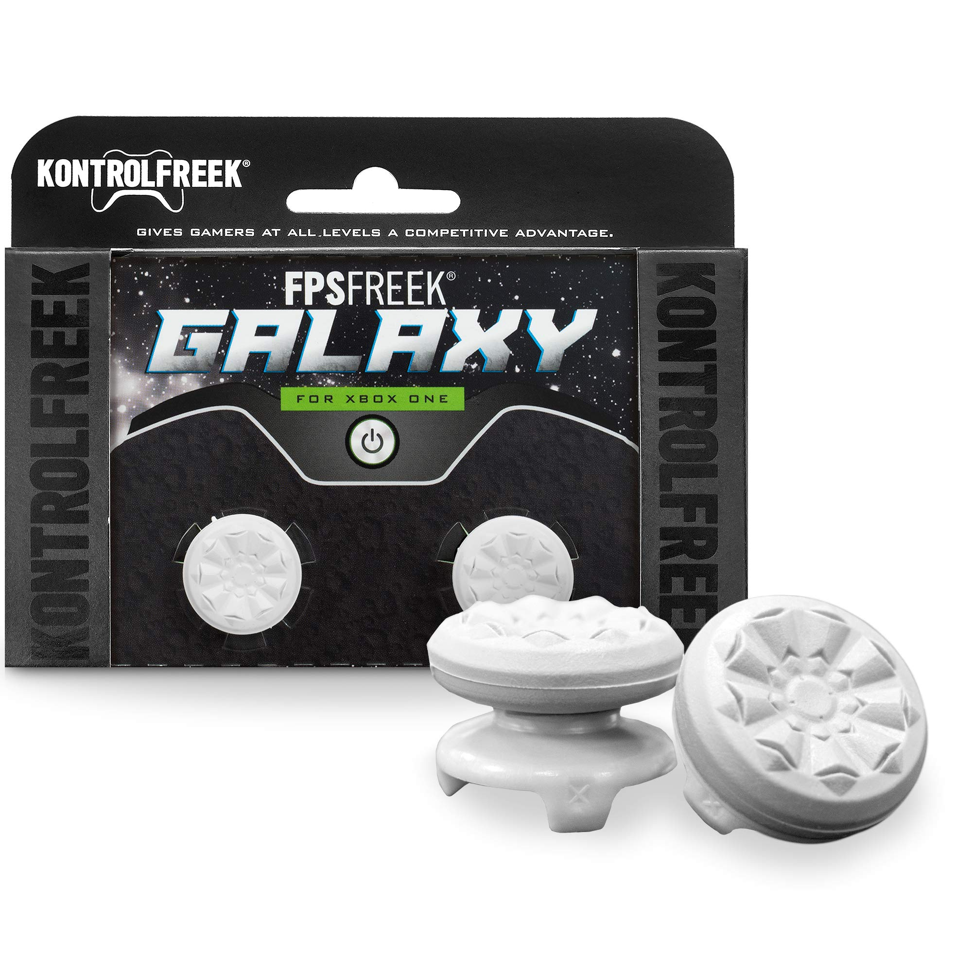 KontrolFreek FPS Freek Galaxy White for Xbox One Controller | Performance Thumbsticks | 1 High-Rise, 1 Mid-Rise | White by KontrolFreek