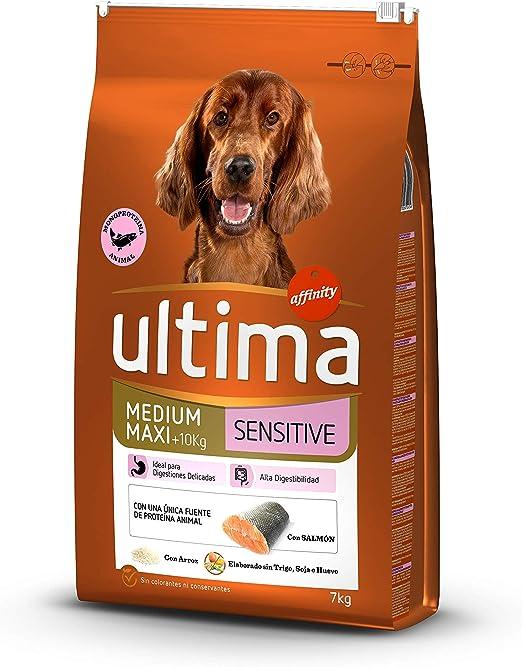ultima Pienso para Perros Medium-Maxi Sensitive con Salmón - 7 kg