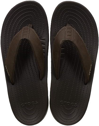 55501e52fd8 Crocs Mens Bogota Flip M Brown  Buy Online at Low Prices in India -  Amazon.in