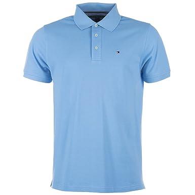 Tommy Hilfiger Luz para hombre algodón azul Golf Polo camisa X ...