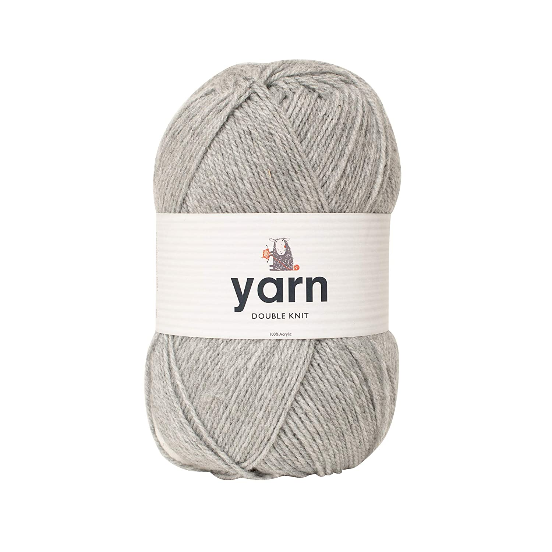Ovillo de lana color gris claro 100/% acr/ílico, talla /única Korbond DK