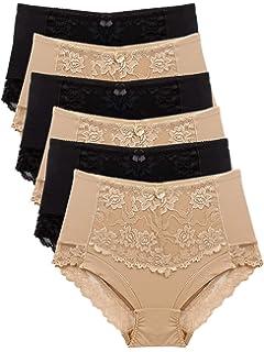 e9da23a15f483 Barbra Lingerie Women s 6 Pack High Waist Cool Feel Brief Underwear ...