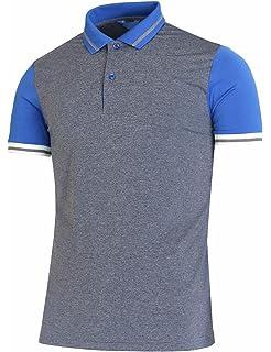 6b5709f91 BCPOLO Men's Polo Shirt Spandex Raglan Short Sleeve Athletic Polo Shirt