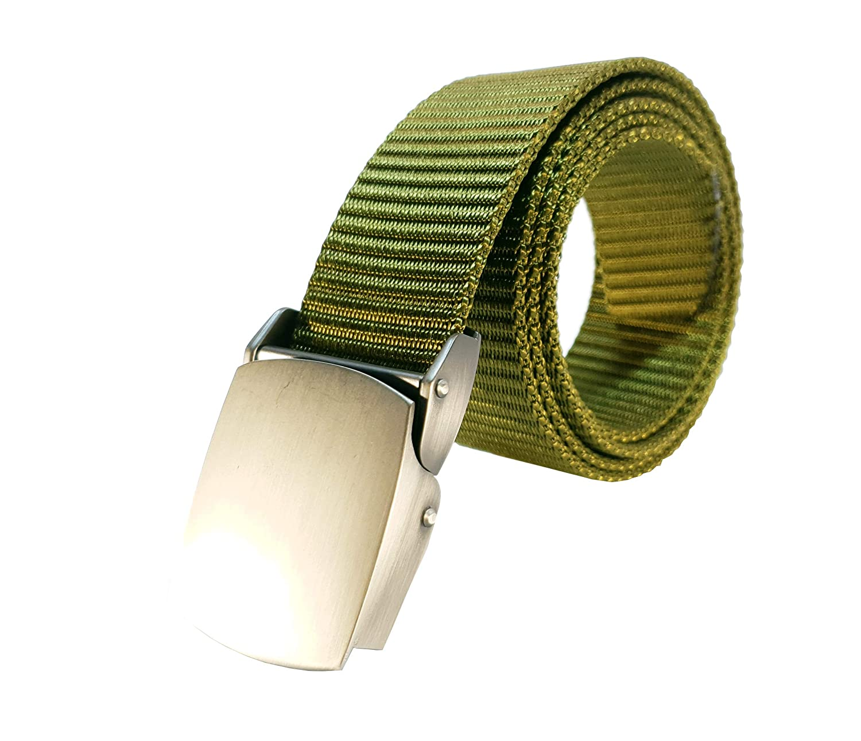 Cinturón táctico militar hombre nylon con hebilla automática longitud regulable hombre y mujer