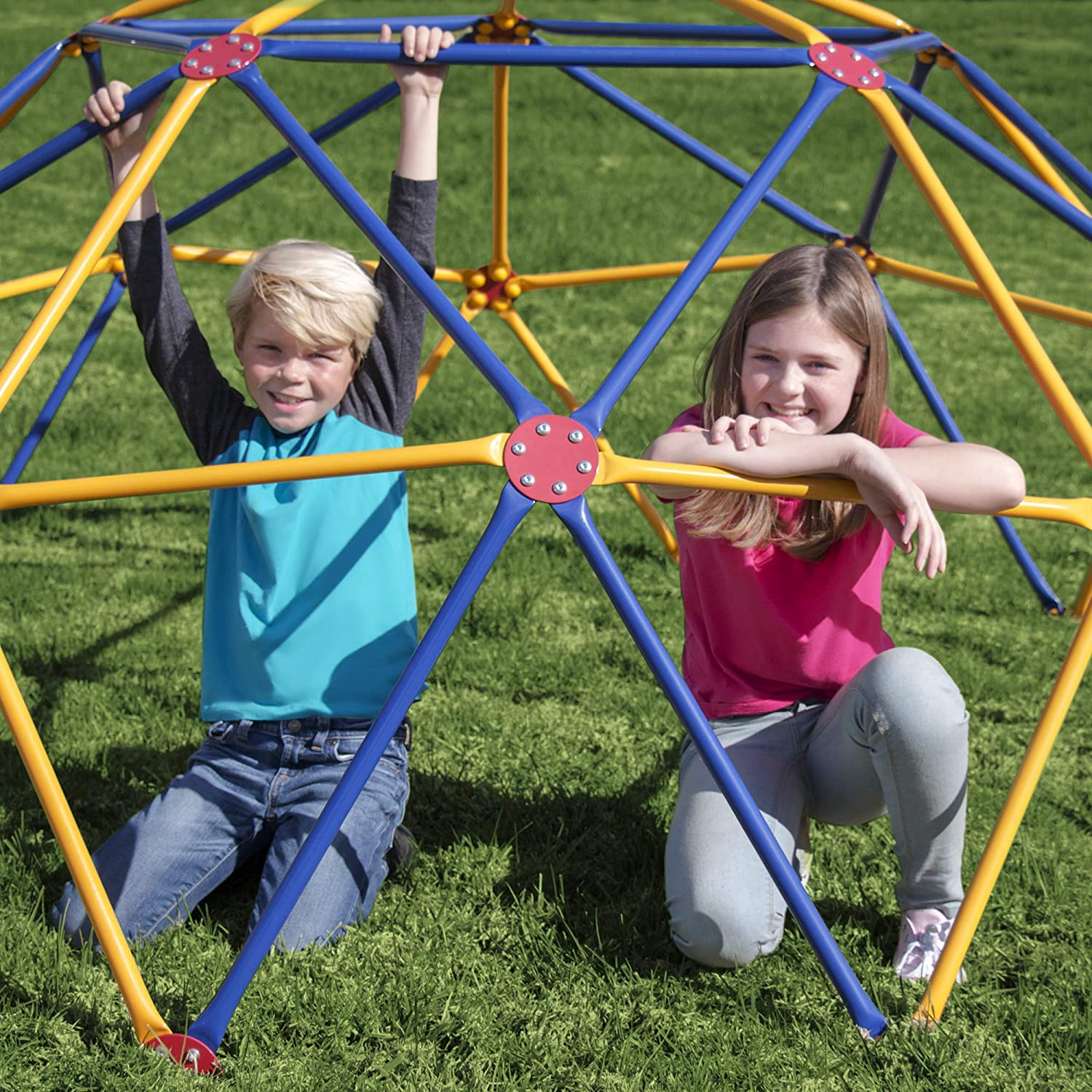 Easy Outdoor Space Dome Climber 1000lb For Kids Ages 3 to 9 Rust and UV Resistant Steel Renewed Capacity
