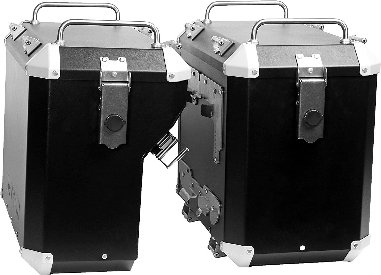 Mytech- 47 Kit de maleta color negro de 41 litros montado directamente en los marcos estándar originales para - R 1200 GS adventure LC (2014) - R 1250 GS adventure LC (2019)